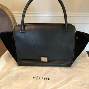 Celine Large Trapeze Black Handbags